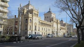 VALLADOLID, SPAIN - MARCH 29, 2017: Military Academy of cavalry in the city of Valladolid, Spain stock video