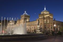 Valladolid, Spanien, Nachtszene Lizenzfreie Stockfotografie