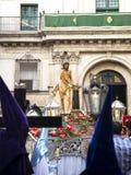 Valladolid, Spanje - April 02, 2015: Cristoatado een La-columna binnen Stock Afbeelding