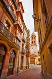 Valladolid stadsgata Arkivbilder