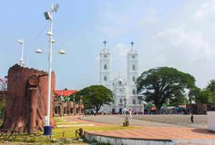 Vallarpadam kyrka arkivbilder
