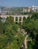 Vallata Санта Domenica и Ponte Vecchio, dei Cappuccini o Ponte в Рагузе Италия Сицилия Стоковое Изображение RF