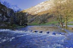 Vallate di Dovedale Derbyshire delle pietre facenti un passo Fotografia Stock