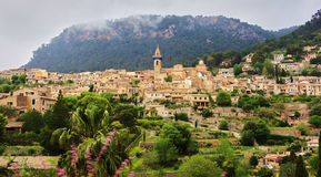 Valldemosa. View of the historic town of Valldemossa Royalty Free Stock Images