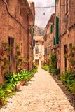 Valldemossa beautifuls straten stock fotografie