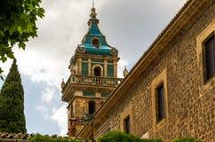 Valldemossa Charterhouse i Spanien Royaltyfri Bild