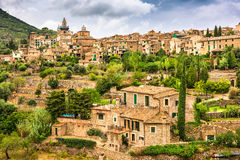 Valldemossa, Mallorca, Spain. Old town village Royalty Free Stock Photo