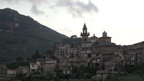 Valldemossa provincial town. Palma de Mallorca, Spain, Balearic Islands August 2013 stock footage