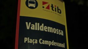 Valldemossa provincial town. Palma de Mallorca, Spain, Balearic Islands August 2013 city sign, signboard stock footage