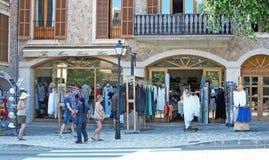 Valldemossa shopping scene Stock Images