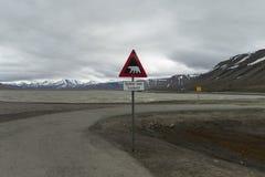 Valle ártico Adventdalen, Svalbard Fotos de archivo libres de regalías