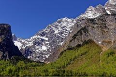 Valle al fronte orientale del massiccio di Watzmann Fotografia Stock