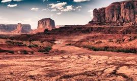 Valle al tramonto, Arizona del monumento Fotografie Stock Libere da Diritti