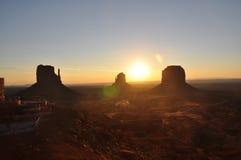 Valle alba del monumento della sulla Fotografia Stock Libera da Diritti