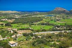 Valle alla parte del nord di Maiorca Immagine Stock