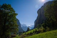 Valle alpestre Fotografía de archivo libre de regalías
