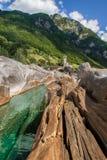Valle alpestre Foto de archivo libre de regalías