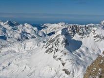 Valle in alpi Immagini Stock Libere da Diritti