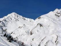 Valle in alpi Fotografia Stock