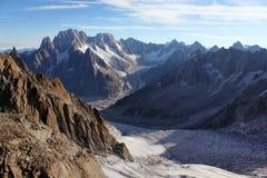 Valle alpina Fotografia Stock