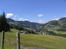 Valle alpina Fotografia Stock Libera da Diritti