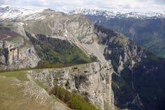 Valle alpina più bassa francese Fotografia Stock