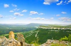 Valle in alta montagna. Immagine Stock Libera da Diritti