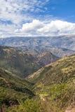 Valle andino Cuzco Perú Foto de archivo