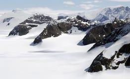 Valle antártico del glaciar Foto de archivo libre de regalías