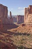 Valle asombroso en el parque de estado de los arcos en Utah Fotos de archivo