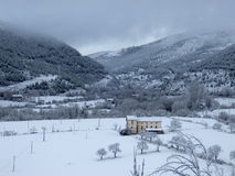 Valle bianca come la neve Fotografia Stock Libera da Diritti