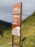 Valle-camonica das Tal von Marksteinen Lizenzfreies Stockbild