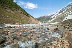 Valle con il fiume Fotografia Stock
