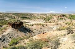 Valle con las excavaciones Tanzanite Foto de archivo libre de regalías