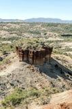 Valle con las excavaciones Tanzanite Fotografía de archivo