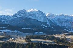 Valle congelado Fotos de archivo