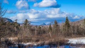 Valle congelata fotografia stock libera da diritti