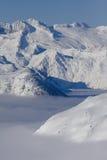 Valle coperta di nebbia Fotografia Stock