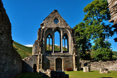 Valle Crucis Abbey at Llantysilio, Wales. Ruins of Valle Crucis Abbey, a Cistercian  monastery in Llantysilio, Denbighshire, Wales Stock Images
