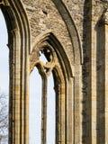Valle Crucis opactwa Archway szczegół Fotografia Royalty Free