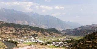 Valle d'agricoltura cinese Fotografie Stock
