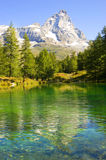 Valle d'Aosta view of the blue lake Stock Photography