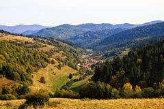Vallée d'automne Image stock