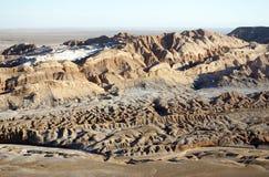 Valle de έρημος Luna - Atacama Λα Στοκ Εικόνα