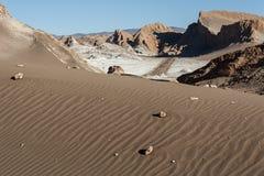 Valle de Λα Luna Moon κοιλάδα στην έρημο Atacama κοντά σε SAN Pedro de Atacama, Antofagasta - Χιλή Στοκ Εικόνα