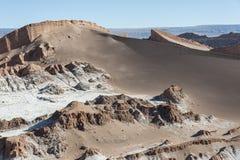 Valle de Λα Luna Moon κοιλάδα στην έρημο Atacama κοντά σε SAN Pedro de Atacama, Antofagasta - Χιλή Στοκ φωτογραφία με δικαίωμα ελεύθερης χρήσης