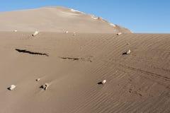 Valle de Λα Luna Moon κοιλάδα στην έρημο Atacama κοντά σε SAN Pedro de Atacama, Antofagasta - Χιλή Στοκ εικόνα με δικαίωμα ελεύθερης χρήσης