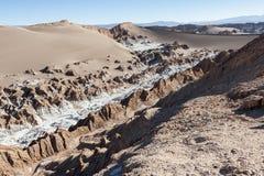 Valle de Λα Luna Moon κοιλάδα στην έρημο Atacama κοντά σε SAN Pedro de Atacama, Antofagasta - Χιλή Στοκ φωτογραφίες με δικαίωμα ελεύθερης χρήσης