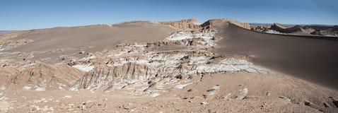 Valle de Λα Luna Moon κοιλάδα στην έρημο Atacama κοντά σε SAN Pedro de Atacama, Antofagasta - Χιλή Στοκ εικόνες με δικαίωμα ελεύθερης χρήσης