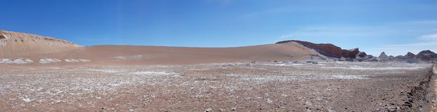 Valle de Λα Luna Valley του φεγγαριού στην έρημο Atacama, Χιλή στοκ εικόνες με δικαίωμα ελεύθερης χρήσης
